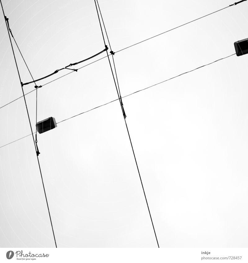 tribute to time. Stadt Wege & Pfade Linie oben Verkehr Energiewirtschaft Technik & Technologie Kabel Netzwerk dünn lang diagonal durcheinander Personenverkehr