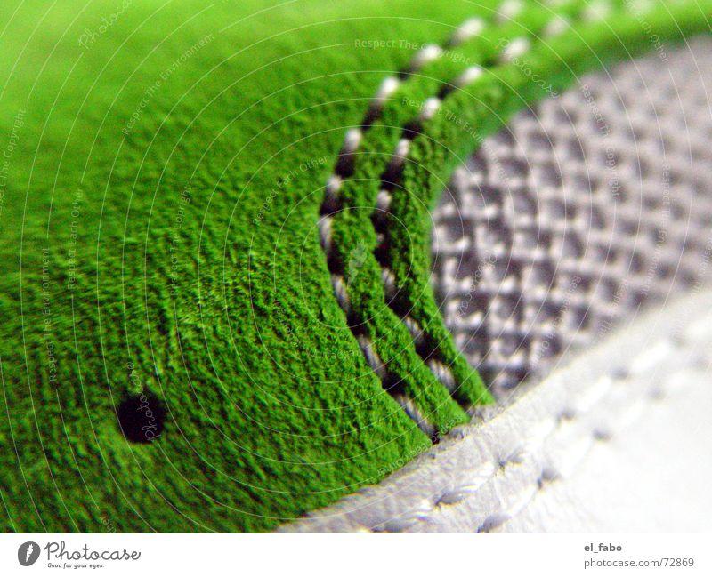 neue schuhe... weiß grün grau Schuhe Loch Neonlicht Nähen Naht Wildleder