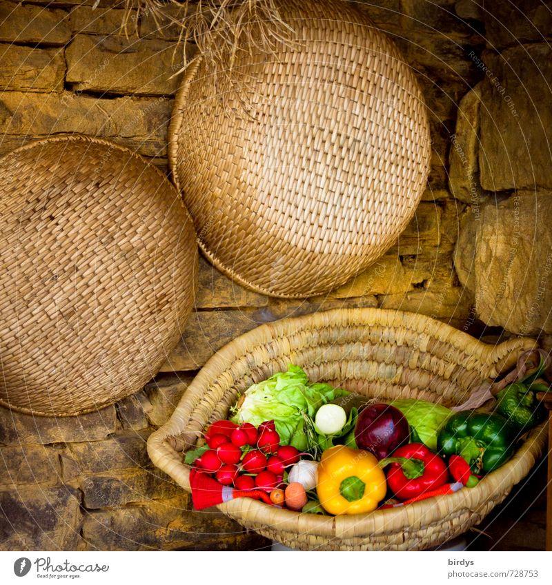 heimelig und lecker Sommer Gesunde Ernährung ruhig Stil Gesundheit Stein Idylle ästhetisch genießen Lebensfreude Küche Gemüse Bioprodukte Duft positiv