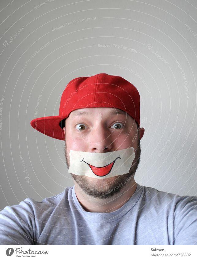 schönen montag euch allen! Mensch Jugendliche Mann rot Freude 18-30 Jahre Gesicht Erwachsene Gefühle lustig Glück Stimmung Kopf maskulin Körper frisch