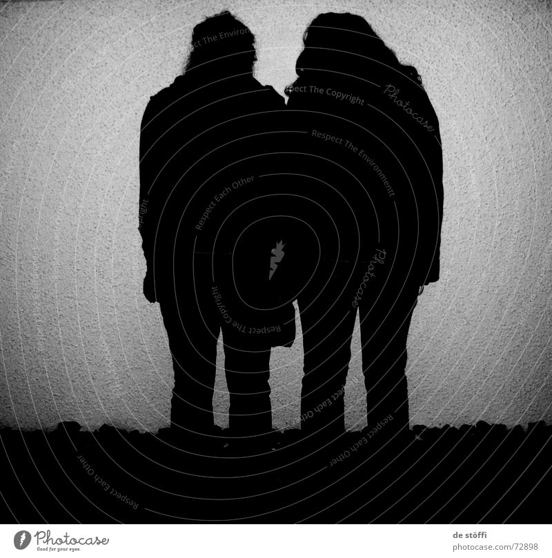 de.mutzen.tanten dunkel Wand 2 Silhouette klein böse Einsamkeit Schatten Loch silouette rückwärts Kontrast Fleck zwischenwelt Mensch warten kopf senkend