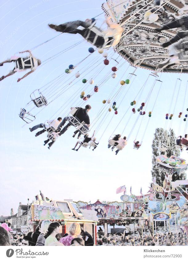 Alte Puppenkirmes Freude Stil Freizeit & Hobby fliegen Ausflug Vergangenheit drehen Jahrmarkt genießen Ereignisse Nostalgie Tradition Erinnerung falsch früher