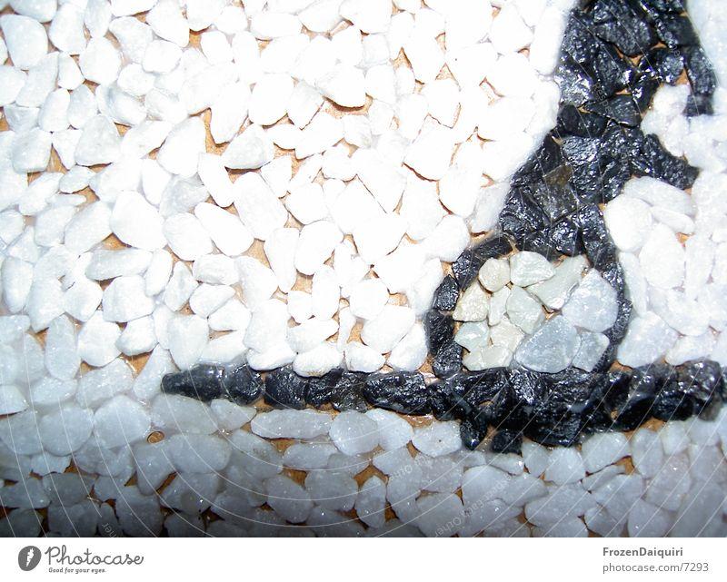 Kieselsteinbild/weiß weiß schwarz grau Bild Häusliches Leben Kieselsteine Mosaik Makroaufnahme