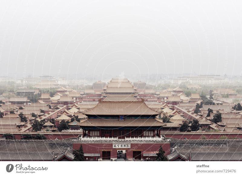 Chinatown Peking Hauptstadt Altstadt Skyline Haus Palast Sehenswürdigkeit Wahrzeichen Verbotene Stadt ästhetisch außergewöhnlich exotisch fantastisch Dunst