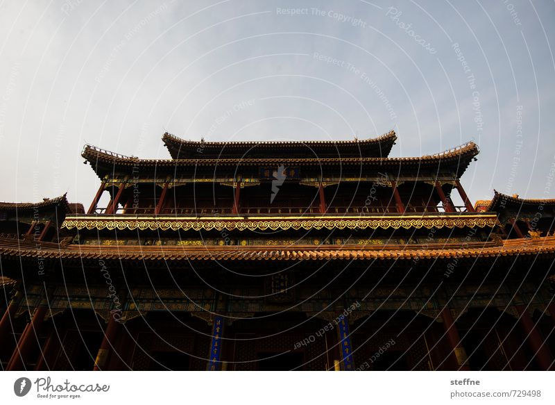 Tempel Himmel Erotik Gold Schönes Wetter China Palast Peking Chinesische Architektur