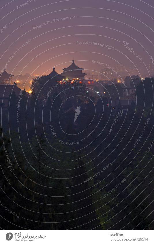 Pekinesischer Abend ruhig außergewöhnlich Frieden Dunst China Glockenturm Peking