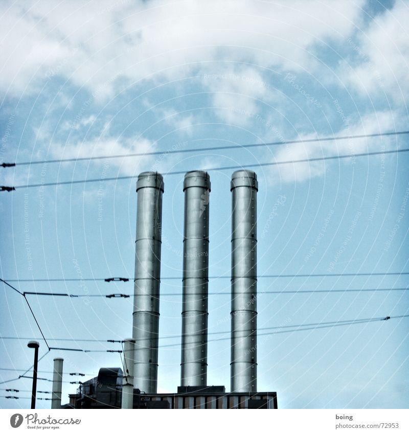 planet der gemütlichkeit Himmel Wärme hoch Elektrizität Industrie rund Macht Industriefotografie Netz Fabrik Abgas Schornstein Klimawandel Industrieanlage parallel Stromkraftwerke
