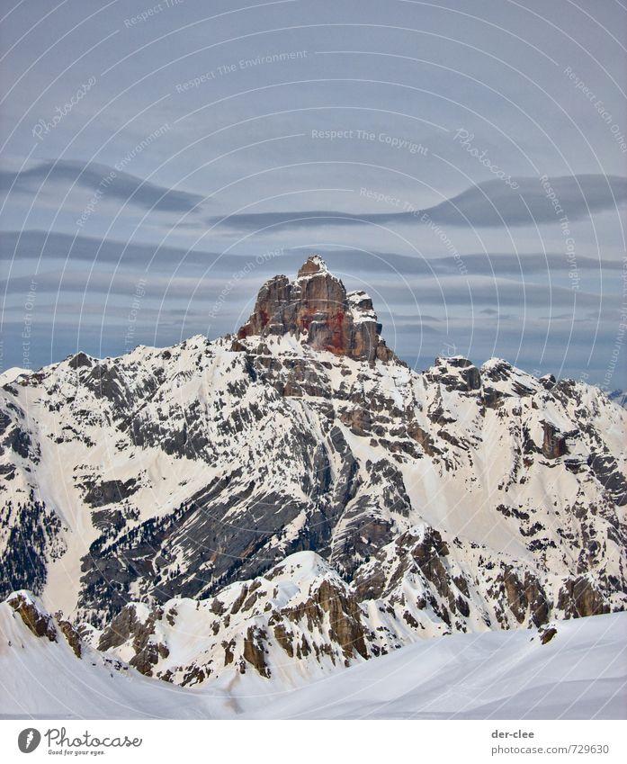 da oben Himmel Natur Ferien & Urlaub & Reisen Landschaft Wolken Winter Berge u. Gebirge Umwelt Schnee Stein Felsen Horizont Luft Erde wandern ästhetisch