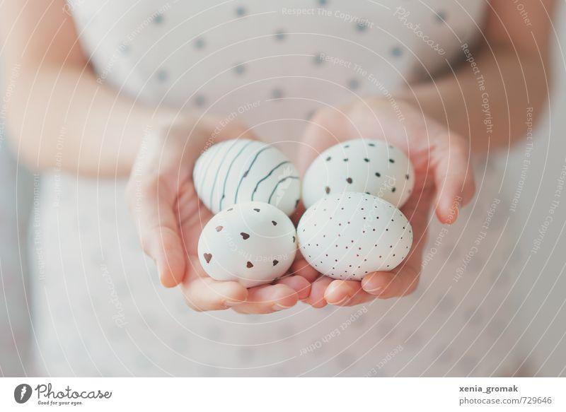 vier Eier Lebensmittel Ernährung Frühstück Bioprodukte Diät Fasten Lifestyle Freizeit & Hobby Spielen Feste & Feiern Ostern ästhetisch Inspiration Kitsch