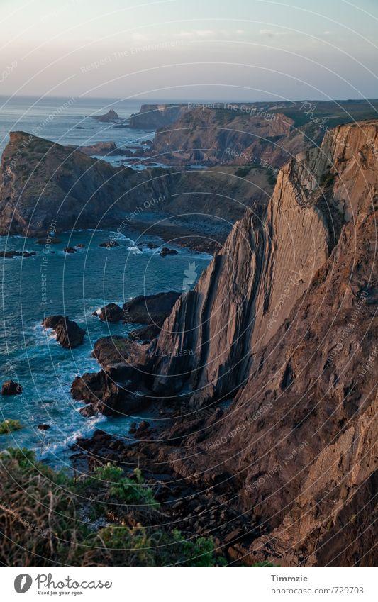 Algarve sunset Natur Landschaft Erde Wasser Sonnenaufgang Sonnenuntergang Felsen Küste Meer Freizeit & Hobby Perspektive Ferien & Urlaub & Reisen Portugal
