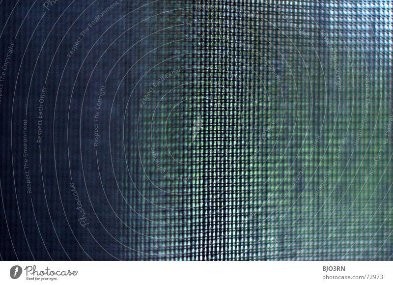 ich sehe was, was Du nicht siehst Stoff Vorhang graphisch Bildraum Makroaufnahme quer Format Querformat Produkt grün dunkelgrün canvas cloth fabric gauze