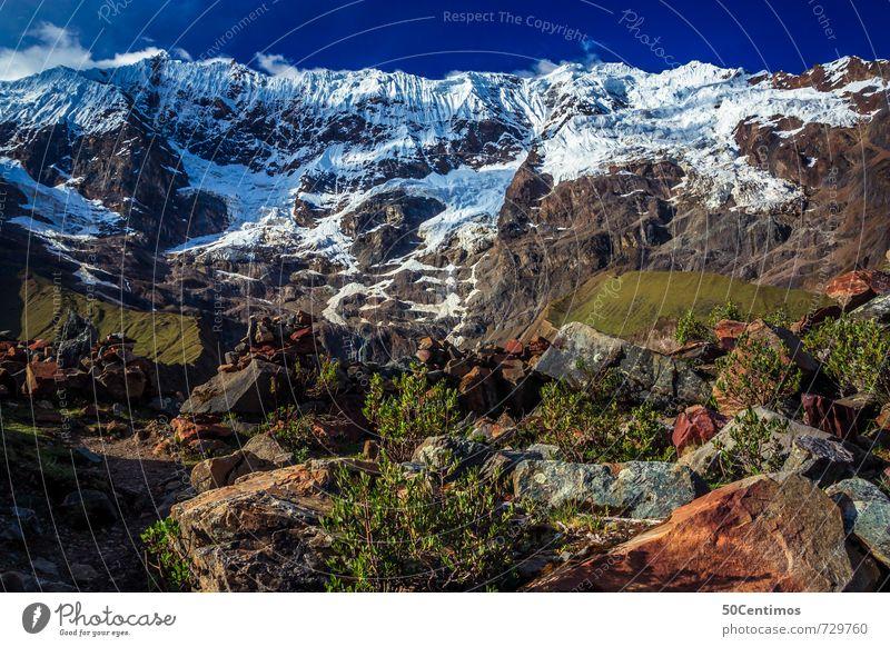 glacier in Peru Ferien & Urlaub & Reisen Tourismus Ausflug Abenteuer Ferne Freiheit Sommerurlaub Schnee Berge u. Gebirge wandern Bergsteigen Natur Landschaft