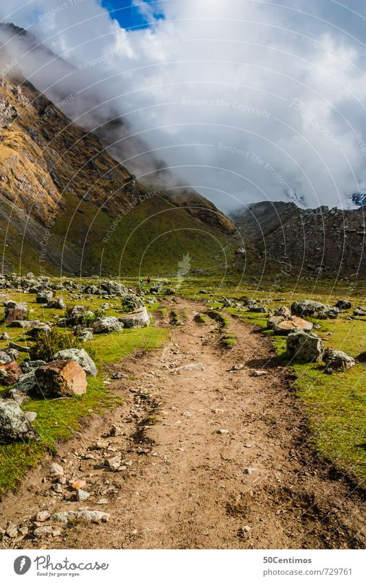 Der Aufstieg Ferien & Urlaub & Reisen Tourismus Ausflug Abenteuer Berge u. Gebirge wandern Umwelt Natur Landschaft Wetter Schönes Wetter Nebel Wiese Feld Alpen