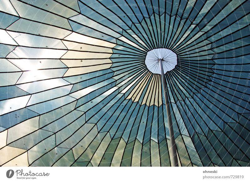Luftig Zelt Zeltplane Zelthimmel Abdeckung Linie trocken blau Schutz Zacken himmelblau Farbfoto Außenaufnahme abstrakt Muster Strukturen & Formen