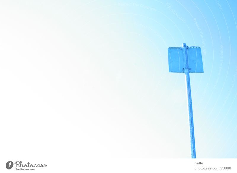 statement schön Himmel Sonne blau Strand Ferien & Urlaub & Reisen ruhig Einsamkeit Wärme hell Metall Schilder & Markierungen Physik Klarheit Schönes Wetter
