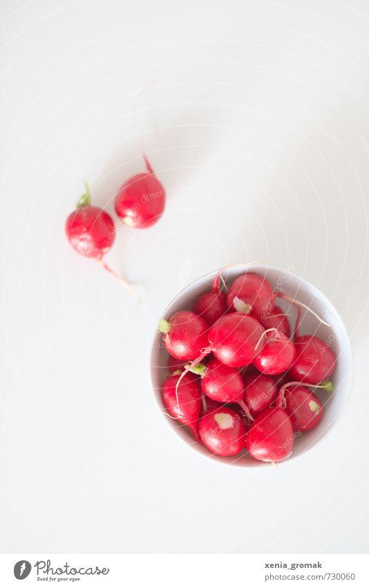 Radieschen in Schale weiß rot Gesundheit Lebensmittel Frucht ästhetisch frisch genießen Ernährung Gemüse fest Bioprodukte Frühstück Schalen & Schüsseln Picknick