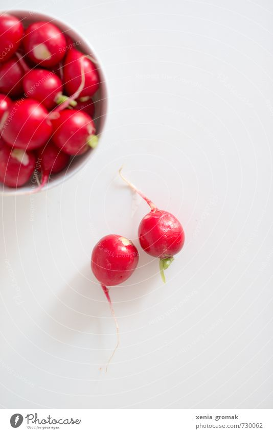 Radieschen rot Gesundheit 2 Lebensmittel Gesundheitswesen Energiewirtschaft genießen Ernährung Scharfer Geschmack Gemüse lecker Bioprodukte Frühstück