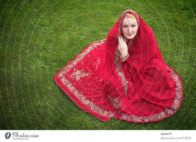Red Sari Indien Tuch