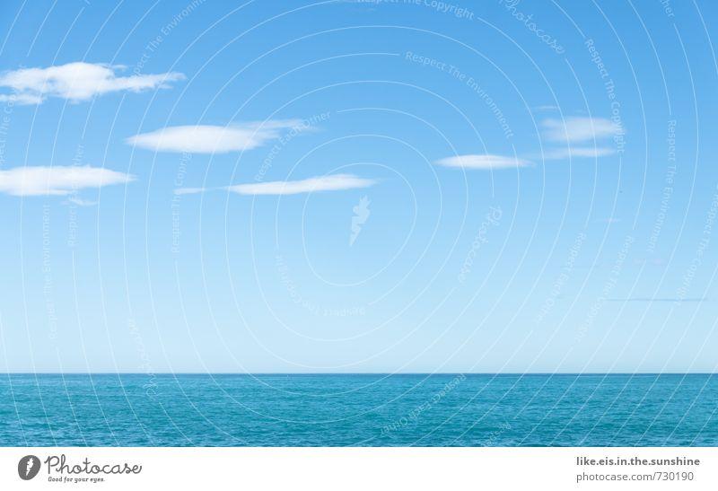 hintergründig: blaues meer Erholung Meditation Ausflug Abenteuer Freiheit Umwelt Natur Landschaft Urelemente Wasser Himmel Wolken Sonnenlicht Frühling Sommer
