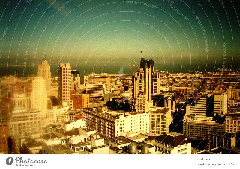 San Francisco Kalifornien Stadtzentrum Hochhaus Panorama (Aussicht) Unschärfe Reflexion & Spiegelung USA panolätta vignette groß