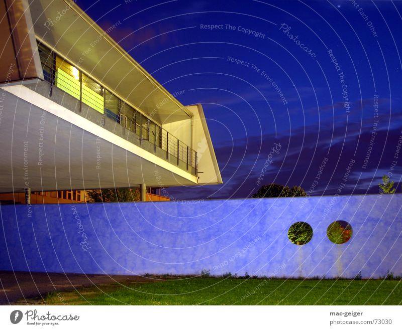 Hochschule der Medien I Gebäude Studium modern Medien Bauwerk Stuttgart technisch Nachtaufnahme Neubau Mischlicht