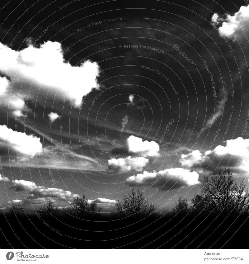 Wolkenglut Himmel Wut chaotisch glühen Glut Apokalypse