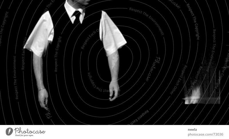 Server_04 Mensch Mann Hand weiß sprechen 2 Arme Glas Aktion Restaurant Dienstleistungsgewerbe Hemd gestikulieren Kellner kredenzen