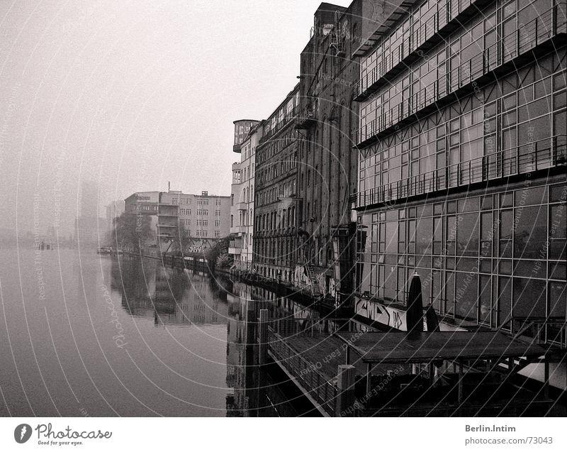 Morning Glory Erholung ruhig Traurigkeit Architektur Gebäude Berlin träumen Deutschland Nebel Europa Fluss Morgen Club Friedrichshain Osten Nachtleben