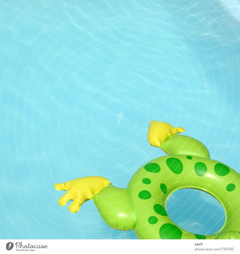 Froschschenkel blau Sommer Sonne Meer Erholung Freude Strand Spielen Schwimmen & Baden Freizeit & Hobby Wellen Tourismus Schönes Wetter Schwimmbad Wellness Spielzeug