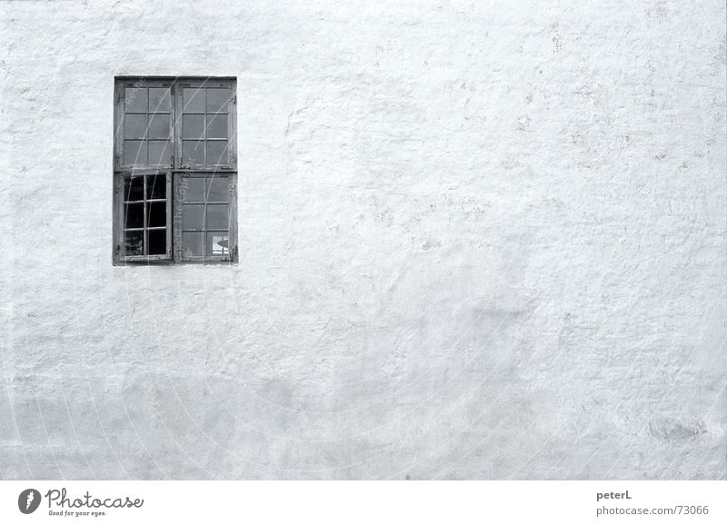 Proportion Fenster Mauer Aussicht Burg oder Schloss historisch Ruine Putz Altbau Einblick