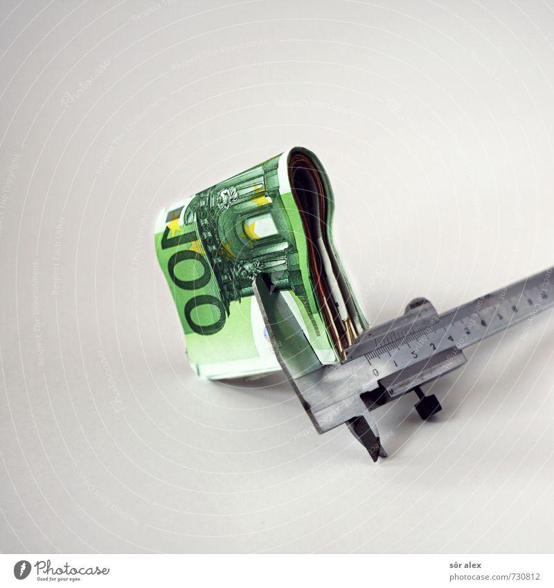 Geldklammer Wirtschaft Industrie Handwerk Baustelle Kapitalwirtschaft Börse Geldinstitut Business Mittelstand Unternehmen Karriere Erfolg Längenmessgerät
