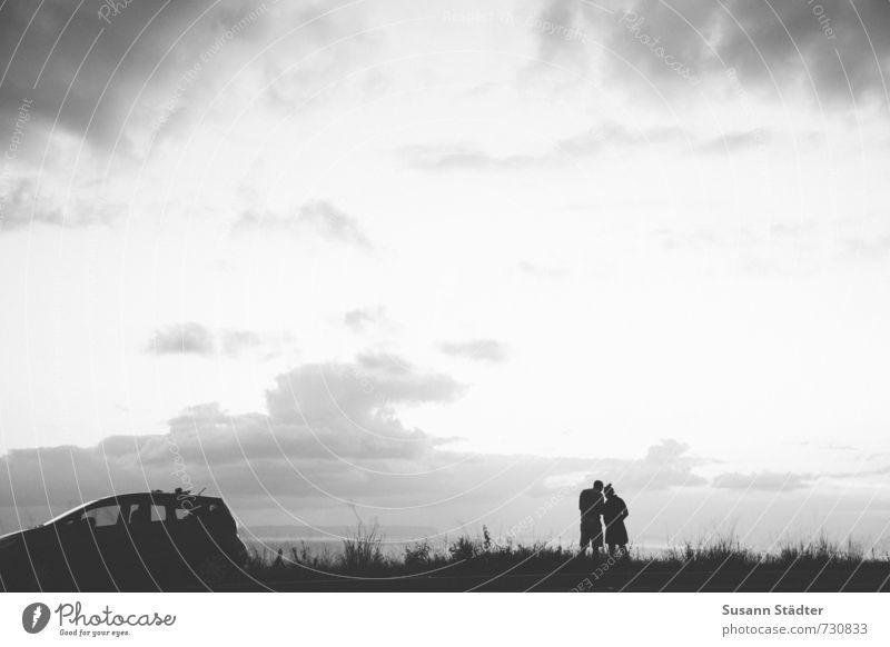 hawaii | travelling Mensch Paar Körper 2 Natur Landschaft PKW Kommunizieren Ferien & Urlaub & Reisen Wolken Ferne Reisefotografie reisend Reiseroute Wegweiser