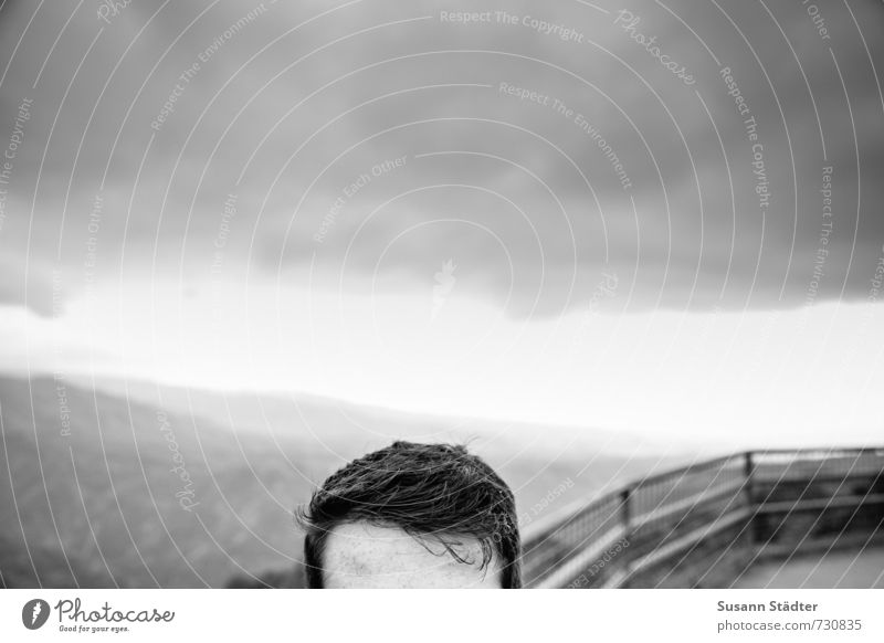 gedankenfrei maskulin Kopf Haare & Frisuren 1 Mensch 18-30 Jahre Jugendliche Erwachsene Blick Haaransatz brünett kurzhaarig Stirn Mann Aussichtsturm Hawaii