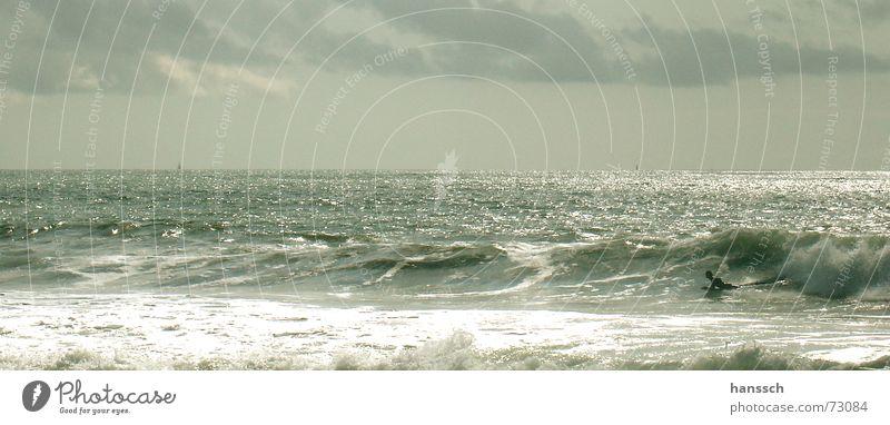 surfen Meer Strand Wolken Freiheit Glück Wellen Frankreich blenden Gefühle Bodyboard