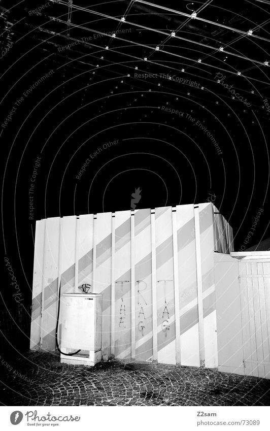 line cube Muster Dach Nacht Stil Licht Würfel Linie Schwarzweißfoto Strukturen & Formen munich Olympiade street light Kasten