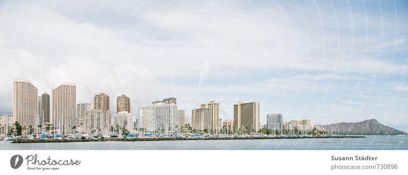 Waikiki Stadt Hauptstadt Stadtzentrum Skyline Hochhaus Bankgebäude Turm Architektur Häusliches Leben außergewöhnlich hoch Optimismus Bewegung Business Handel
