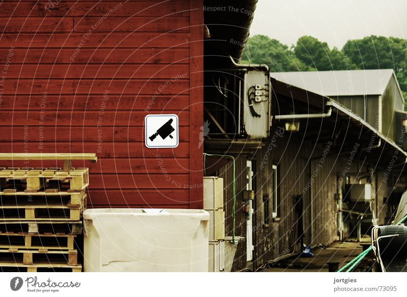 Heimelich Angst Industrie Sicherheit gefährlich Fotokamera Hafen Kontrolle Panik Ware Lager Überwachung Überwachungskamera