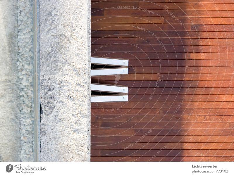 einsichten // ansichten 01 oben Architektur Anschnitt Holzfußboden Moderne Architektur Schiebetür
