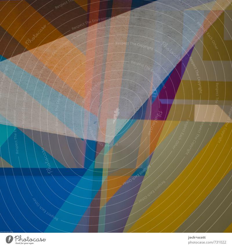 Blend Stil Design Dekoration & Verzierung ästhetisch Streifen einzigartig Grafik u. Illustration viele Netzwerk neu Zusammenhalt Leidenschaft trendy chaotisch