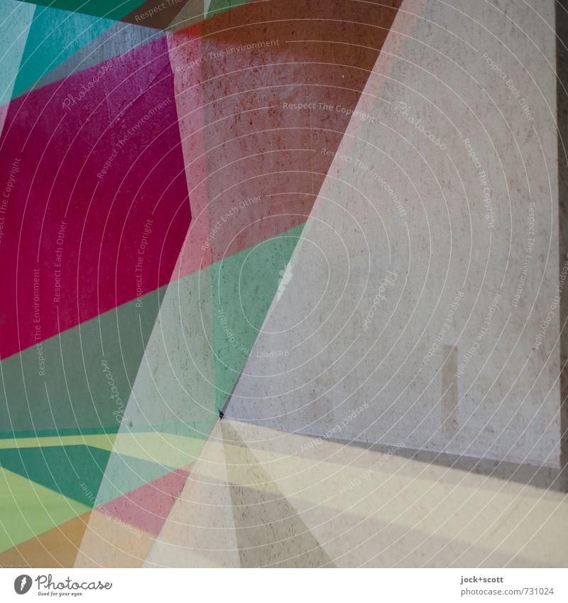 Mélange Stil Grafik u. Illustration Kunststoff Ornament Netzwerk Dreieck Ecke ästhetisch eckig trendy einzigartig modern viele Leidenschaft beweglich