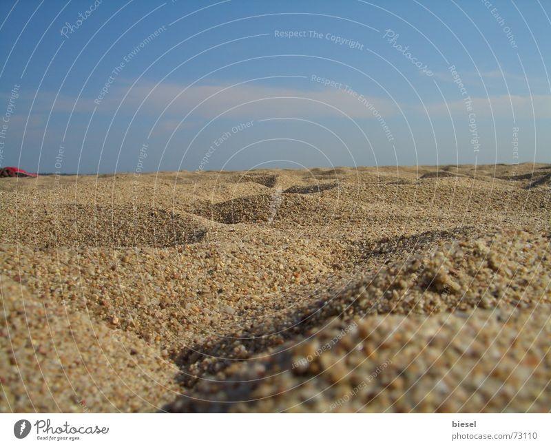 Ein Tag am Meer Strand Frankreich Cannes Sand Blauer Himmel feinkörnig Schönes Wetter Nahaufnahme cote d´zur