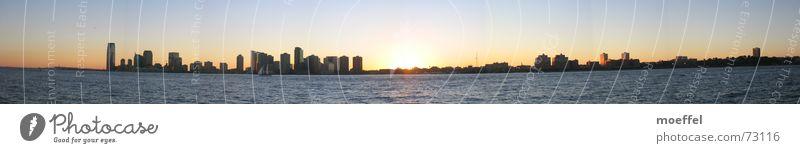 nightline Wasser groß Hochhaus Romantik Panorama (Bildformat) Hudson River New Jersey