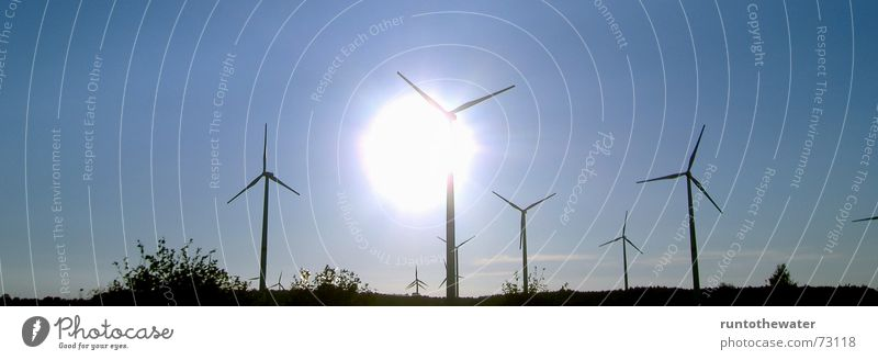 """""""...It never rains in Schleswig-Holstein..."""" Himmel Sonne ruhig Landschaft Kraft Wind Energiewirtschaft Sturm Windkraftanlage Erneuerbare Energie"""
