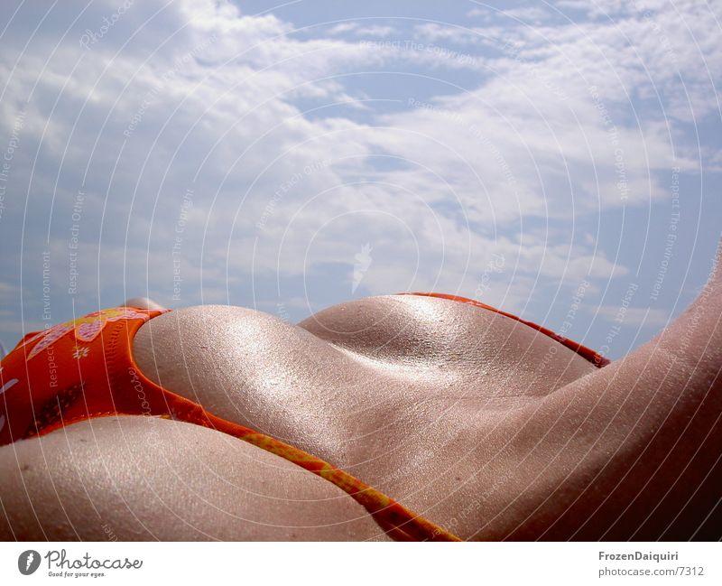 Segeltörnimpression #7 Frau Himmel Sonne Erotik orange Frauenbrust Kochen & Garen & Backen liegen Brust Bikini Sonnenbad Kroatien