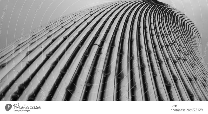 ... wenn moderne kunst alt wird Kunstwerk Skulptur Himmel Regen Bauwerk Architektur Metall Stahl ästhetisch Dinge graue Wolken Aluminium Kiel kieler himmel