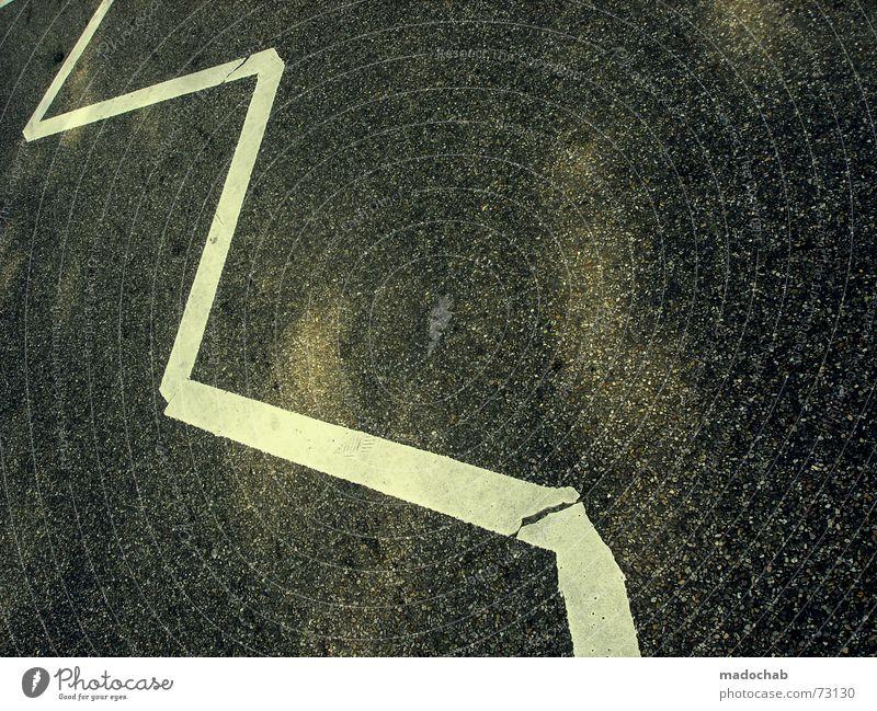 ZICK-ZACK-ZETT weiß Straße Stil Stein Linie Schilder & Markierungen Sicherheit Streifen Dinge Zeichen Aktien Warnhinweis Parkett Börse Kapitalwirtschaft