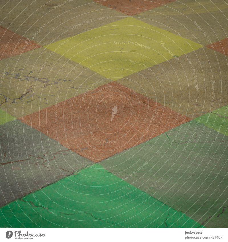 überquer grün Farbe rot gelb Straße Wege & Pfade Hintergrundbild ästhetisch Grafik u. Illustration planen Neugier Sicherheit Netzwerk fest Verkehrswege Riss