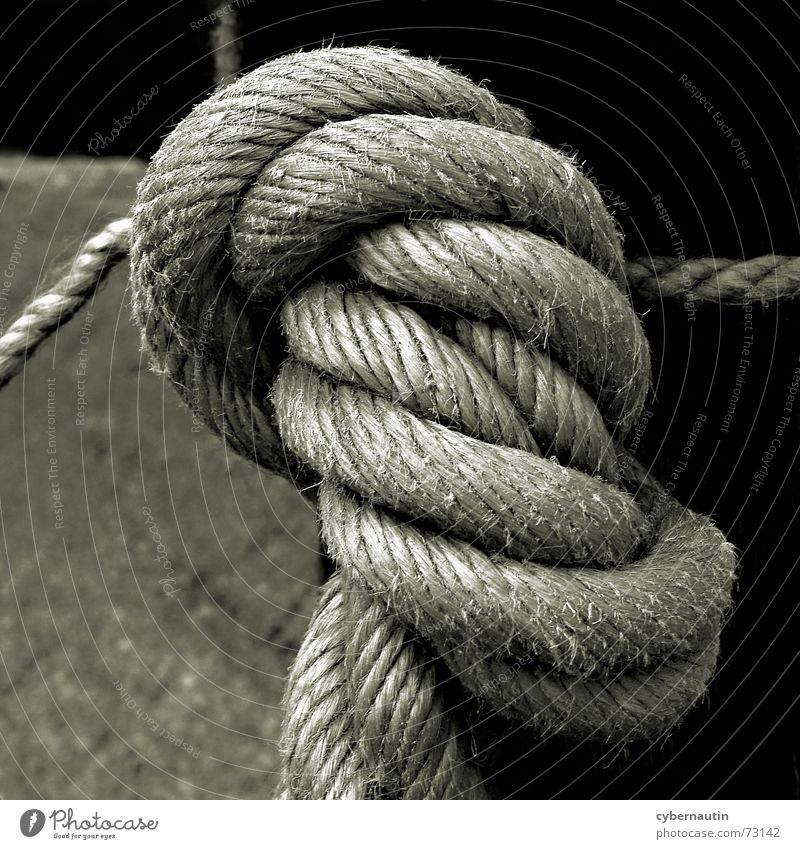 Knoten Seil Verbindung Zusammenhalt Handschellen Hanf