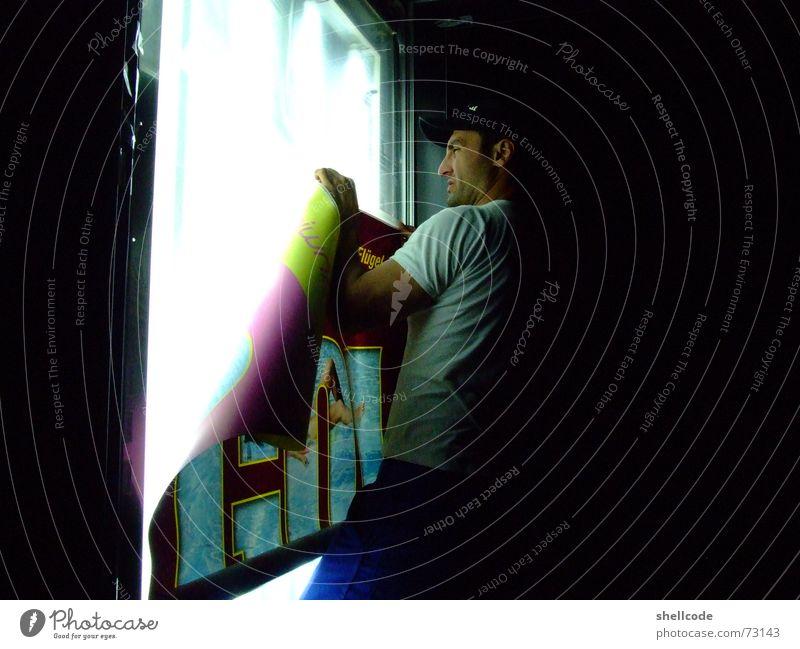 nachtschicht Mauer Werbung Poster Plakat Litfaßsäule