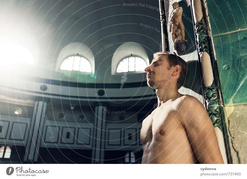 HALLE/S TOUR | Im Licht Mensch Jugendliche schön Erholung ruhig 18-30 Jahre Junger Mann Erotik Erwachsene Architektur Schwimmen & Baden Gesundheit träumen